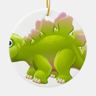 Niedlicher Stegosaurus-Cartoon-Dinosaurier Keramik Ornament