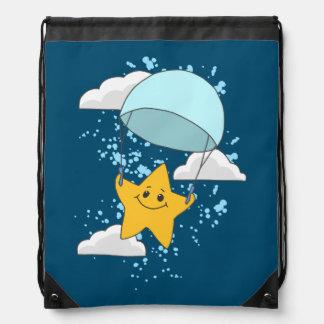 Niedlicher Stern mit Fallschirm Sportbeutel