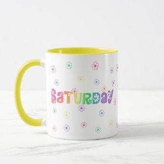 Niedlicher Tag der Woche Samstag Tasse