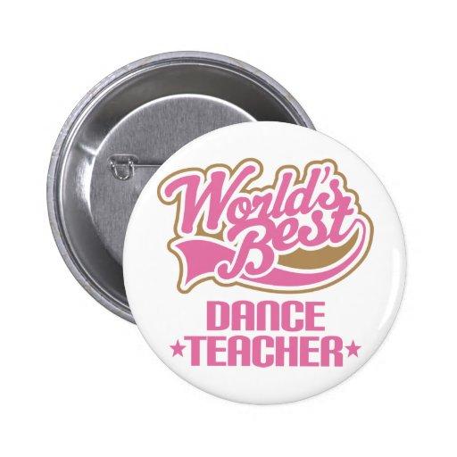 Niedlicher Tanz-Lehrer Buttons