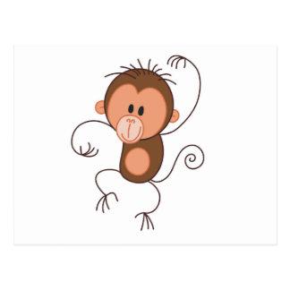 Niedlicher Tanzen-Affe Postkarte