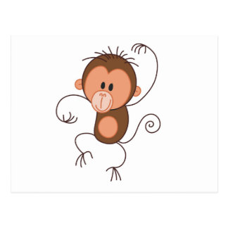 Niedlicher Tanzen-Affe Postkarten