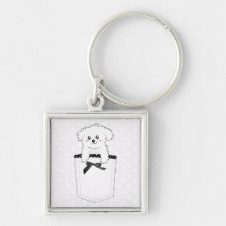 Niedlicher Taschen-Welpen-Hund Schlüsselanhänger