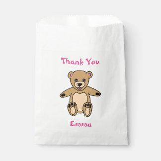 Niedlicher Teddy-Bär danken Ihnen Namens Geschenktütchen