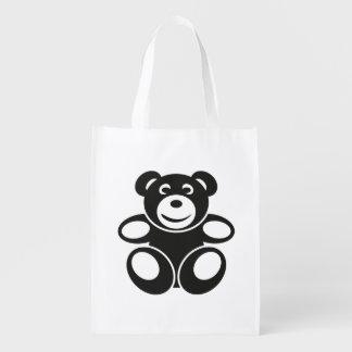 Niedlicher Teddy mit einem Lächeln Wiederverwendbare Einkaufstasche
