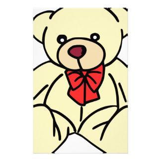 Niedlicher Teddybär in Weiche Tan Bedrucktes Papier