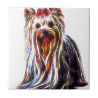 Niedlicher Terrier Yorkshires Yorkie Keramikfliese