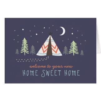 Niedlicher Tipi-neue Zuhause-Karte Karte
