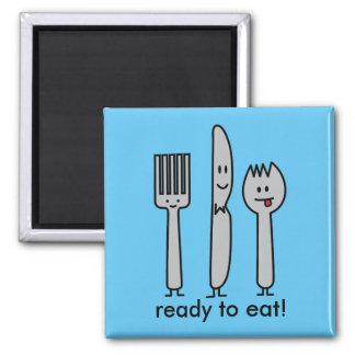 Niedlicher Tischbesteck-Gerät-Gabel-Messer Spork Quadratischer Magnet