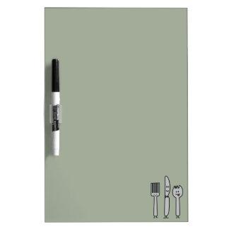 Niedlicher Tischbesteck-Gerät-Gabel-Messer Spork Trockenlöschtafel