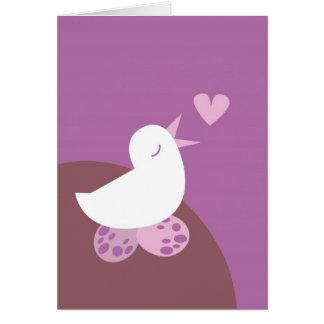 Niedlicher Tweeter-Liebevogel Grußkarte