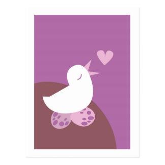 Niedlicher Tweeter-Liebevogel Postkarte
