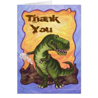 Niedlicher Tyrannosaurus Rex danken Ihnen zu Grußkarte