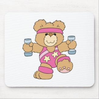 Niedlicher Übungs-Fitnessbär Mousepads