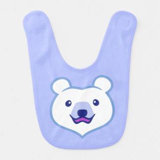Niedlicher unbedeutender Cartoon-polarer Bär Lätzchen