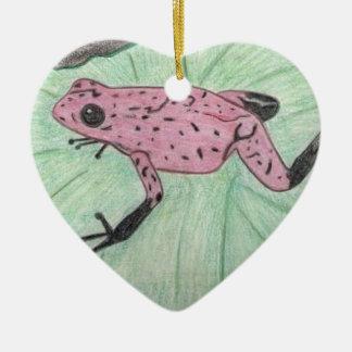Niedlicher und bunter Frosch Keramik Ornament