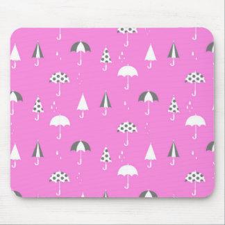 Niedlicher und playful Regenschirmdruck Mousepad