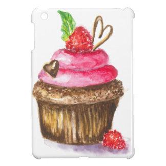 Niedlicher und Spaß-Schokoladen-und Himbeerkleiner iPad Mini Hülle