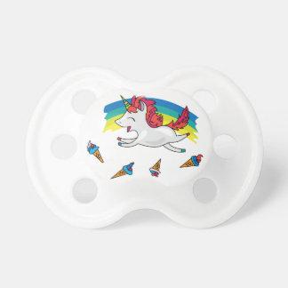 Niedlicher Unicorn mit cooler Illustration des Schnuller