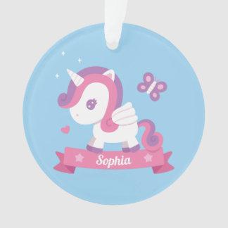 Niedlicher Unicorn mit Ornament
