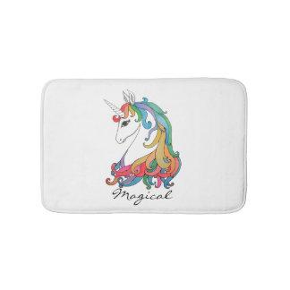 Niedlicher Unicorn Regenbogen des Watercolor Badematte