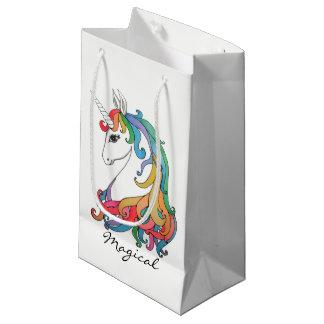Niedlicher Unicorn Regenbogen des Watercolor Kleine Geschenktüte