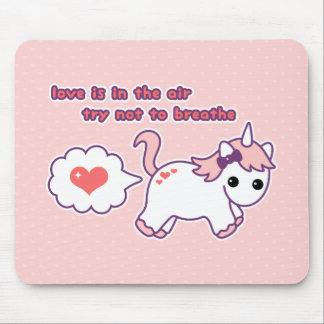 Niedlicher ValentineUnicorn Mousepad