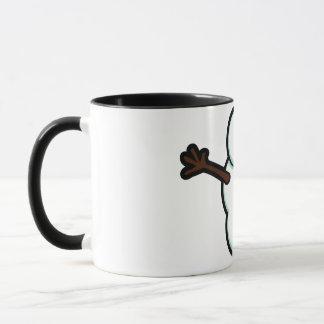 Niedlicher vektorSnowman - Farbe Tasse