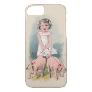 Niedlicher Vintager iPhone 7 Fall - junger Gril iPhone 8/7 Hülle