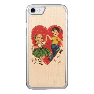 Niedlicher Vintager KindValentine Carved iPhone 8/7 Hülle