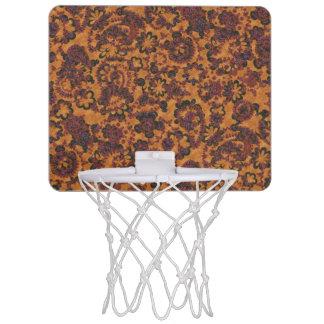 Niedlicher Vintager nahtloser Musterentwurf Mini Basketball Netz