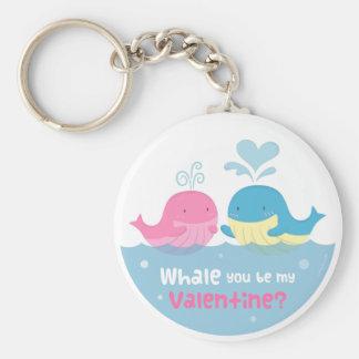 Niedlicher Wal sind Sie Bergwerkvalentine-Liebe Schlüsselanhänger
