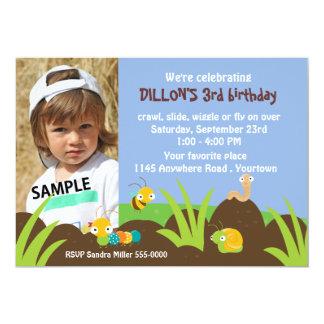 Niedlicher Wanzen-Foto-Geburtstag 12,7 X 17,8 Cm Einladungskarte