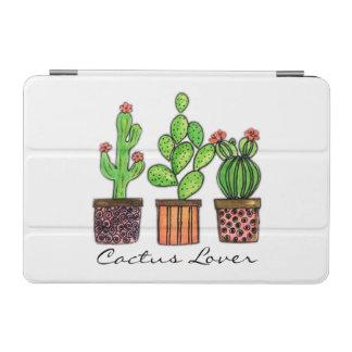 Niedlicher Watercolor-Kaktus in den Töpfen iPad Mini Hülle