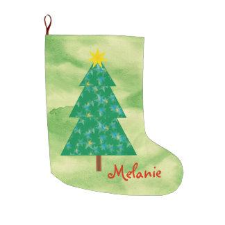 Niedlicher Weihnachtsbaum Großer Weihnachtsstrumpf