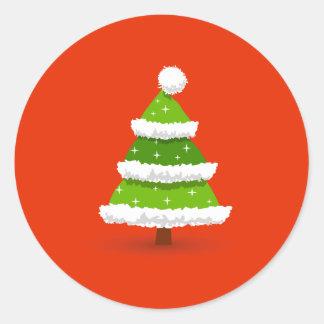 Niedlicher Weihnachtsbaum Runder Aufkleber