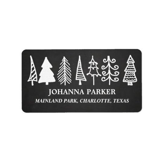 Niedlicher Weihnachtsbaum-Vintager Tafel-Feiertag Adressaufkleber