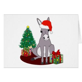 Niedlicher Weihnachtsesel Grußkarte
