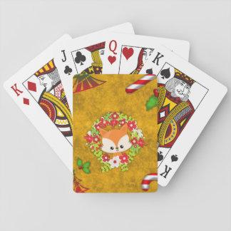 Niedlicher WeihnachtsFox Spielkarten