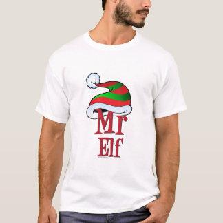 NIEDLICHER Weihnachtsherr Elf Family T-Shirt