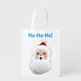 Niedlicher Weihnachtsmann-Cartoon Wiederverwendbare Einkaufstasche