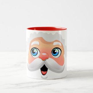 Niedlicher Weihnachtsmann-Cartoon Zweifarbige Tasse