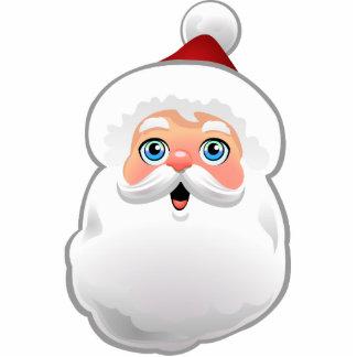 Niedlicher Weihnachtsmann Fotoskulptur Ornament