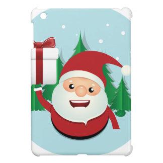 Niedlicher Weihnachtsmann-Geschenk-Kreis iPad Mini Hülle
