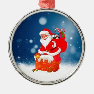 Niedlicher Weihnachtsmann mit Silbernes Ornament