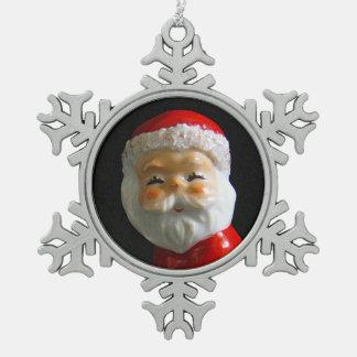Niedlicher Weihnachtsmann stellen gegenüber Schneeflocken Zinn-Ornament