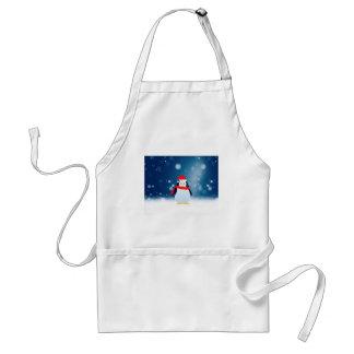 Niedlicher Weihnachtsmannmütze-Weihnachtsschnee Schürze