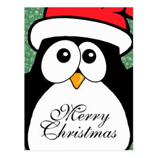 Niedlicher WeihnachtsPenguin Postkarte