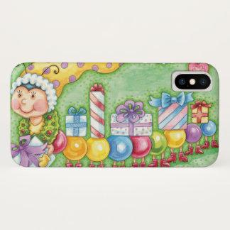 Niedlicher WeihnachtsRaupen-Zug mit Geschenken iPhone X Hülle