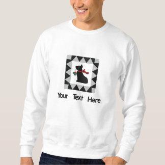 Niedlicher Weihnachtsscottie-Hund personalisiert Sweatshirt